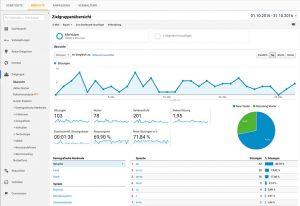 Google Ananlytics Zahlen