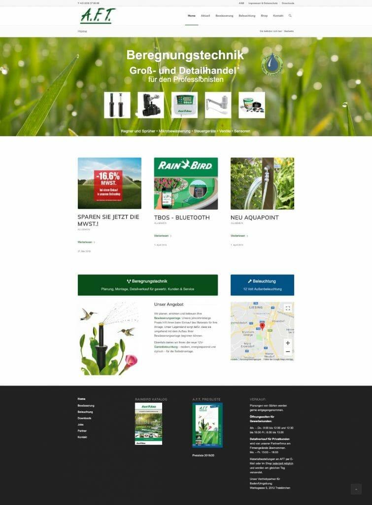 AFT Startseite Desktopversion