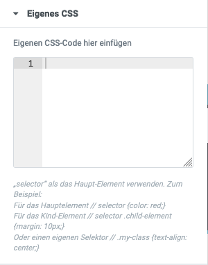 Theme Stil Eigenes CSS