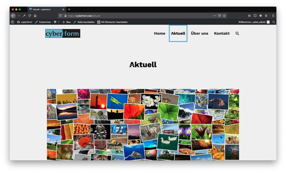 Die Archivseite Aktuell