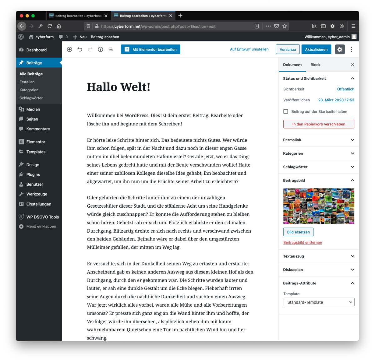 Hallo Welt in Gutenberg