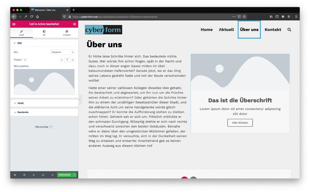 Website erstellen Seite