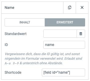 Formfeld ID