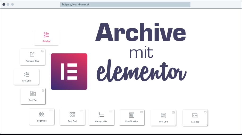 Archive mit Elementor