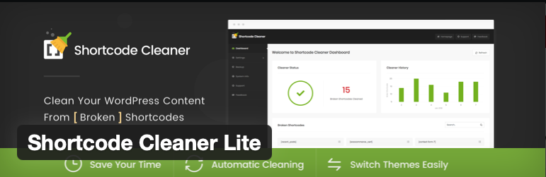ShortCode Cleaner Lite